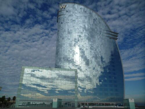 Skyline de Barcelone - hôtel W - Barcelona Autrement