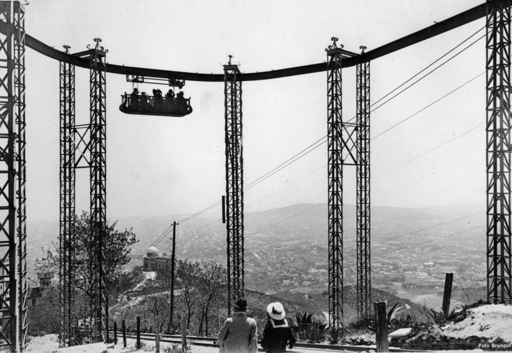 Chemin de fer aérien du Tibidabo autour de 1915 - Barcelona Autrement