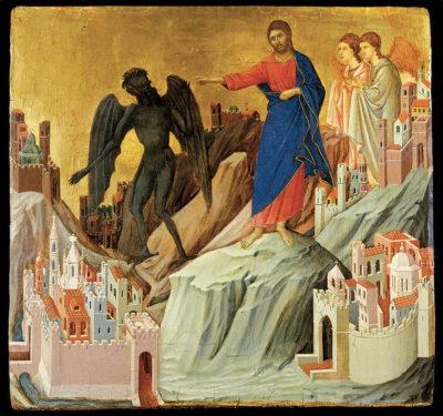 La Tentation du Christ - Duccio di Buoninsegna - Tibidabo - Barcelona Autrement