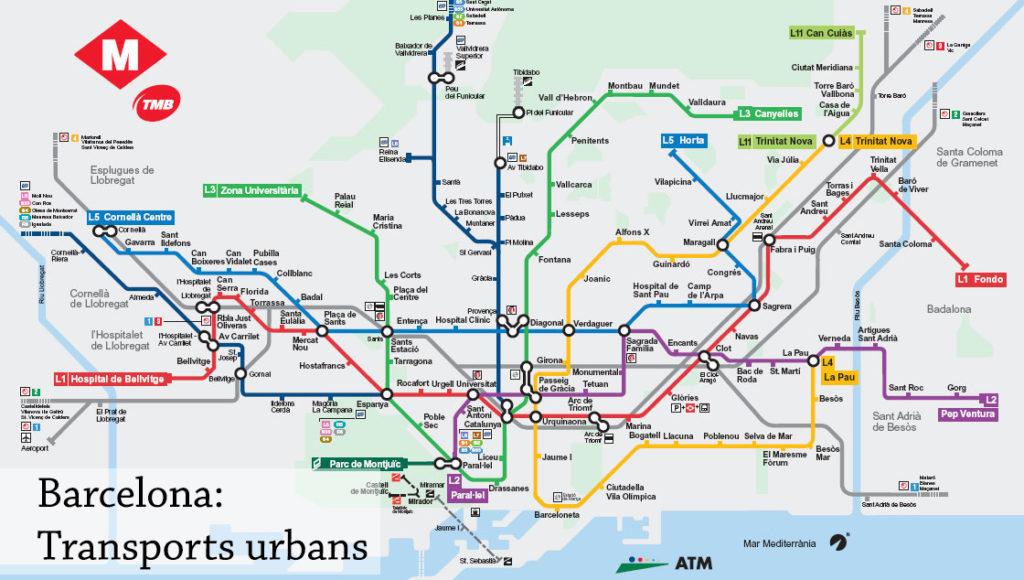 Visiter Barcelone en 2 jours - plan métro - Barcelona Autrement