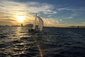 Barcelone depuis la mer (sortie en voilier)