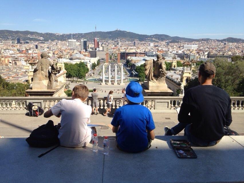 """""""Dessinons Barcelone"""", une activité insolite"""
