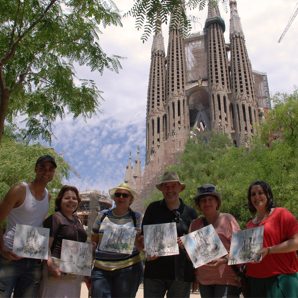 «Dessinons Barcelone», une activité insolite