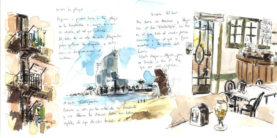 Sketching dessin Barcelona Autrement