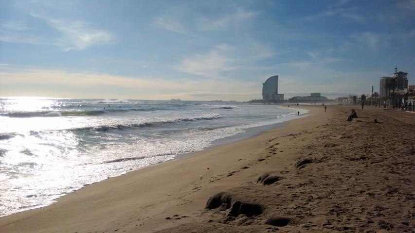 La mer en hiver - Hiver à Barcelone - Barcelona Autrement