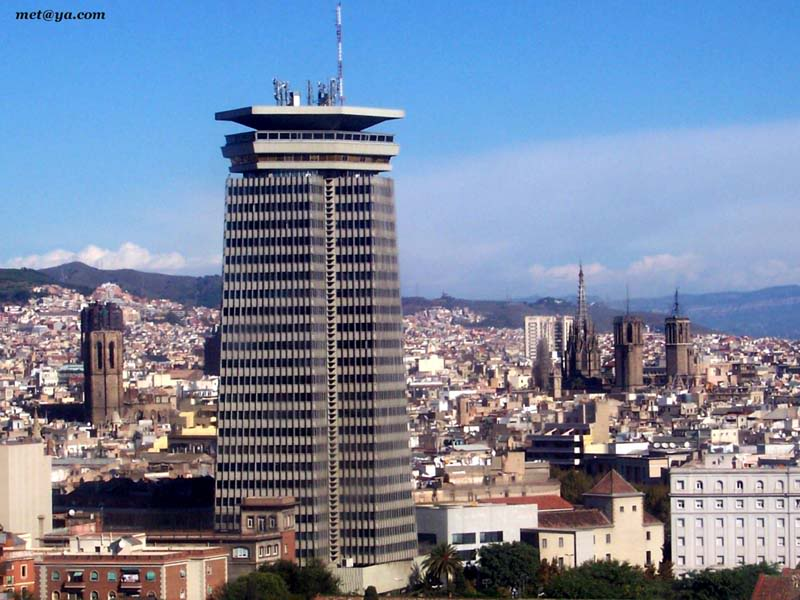 Skyline de Barcelone - Barcelona Autrement - Edifice Colón