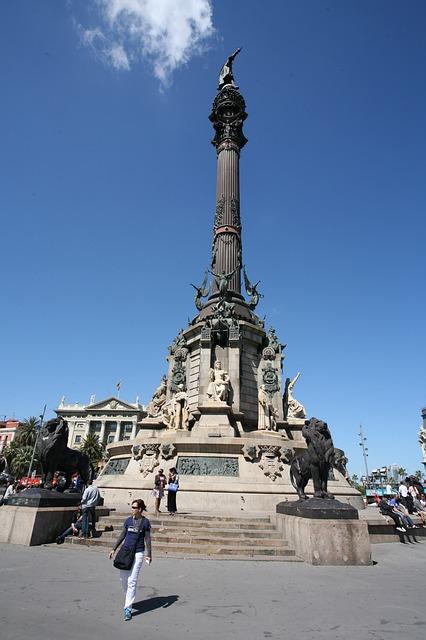 Skyline de Barcelone - Barcelona Autrement - Monumento a Colon