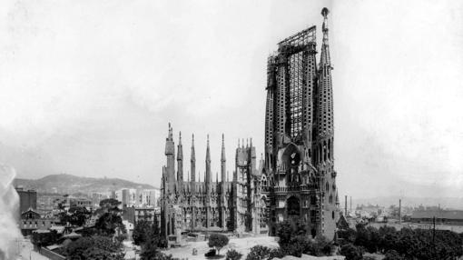 Sagrada Familia en 1926 - Barcelona Autrement