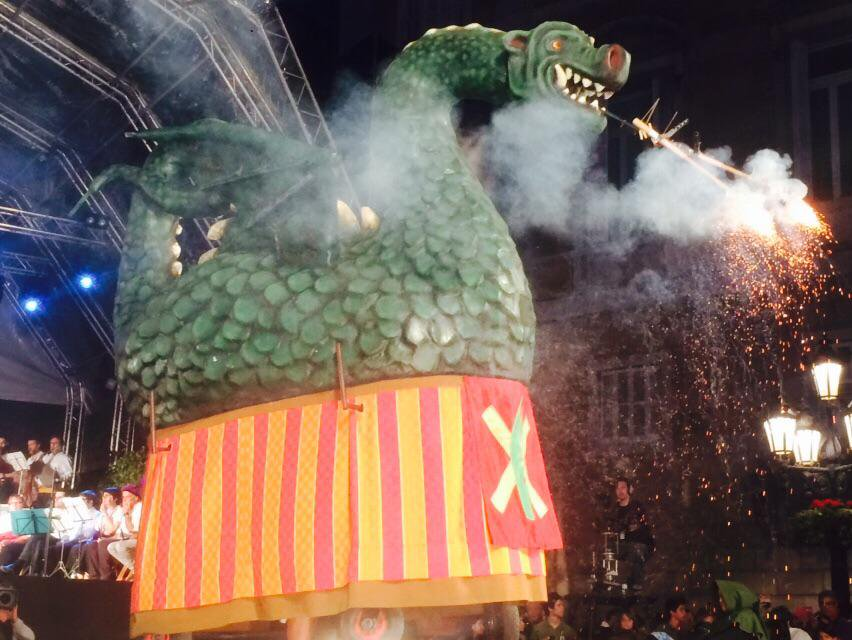 La tradition des géants à Barcelone