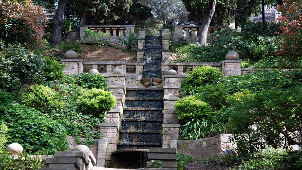 Barcelona Autrement - Jardins de Laribal - Cascade de face