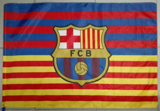 Un autre drapeau important, celui du club du Barça !