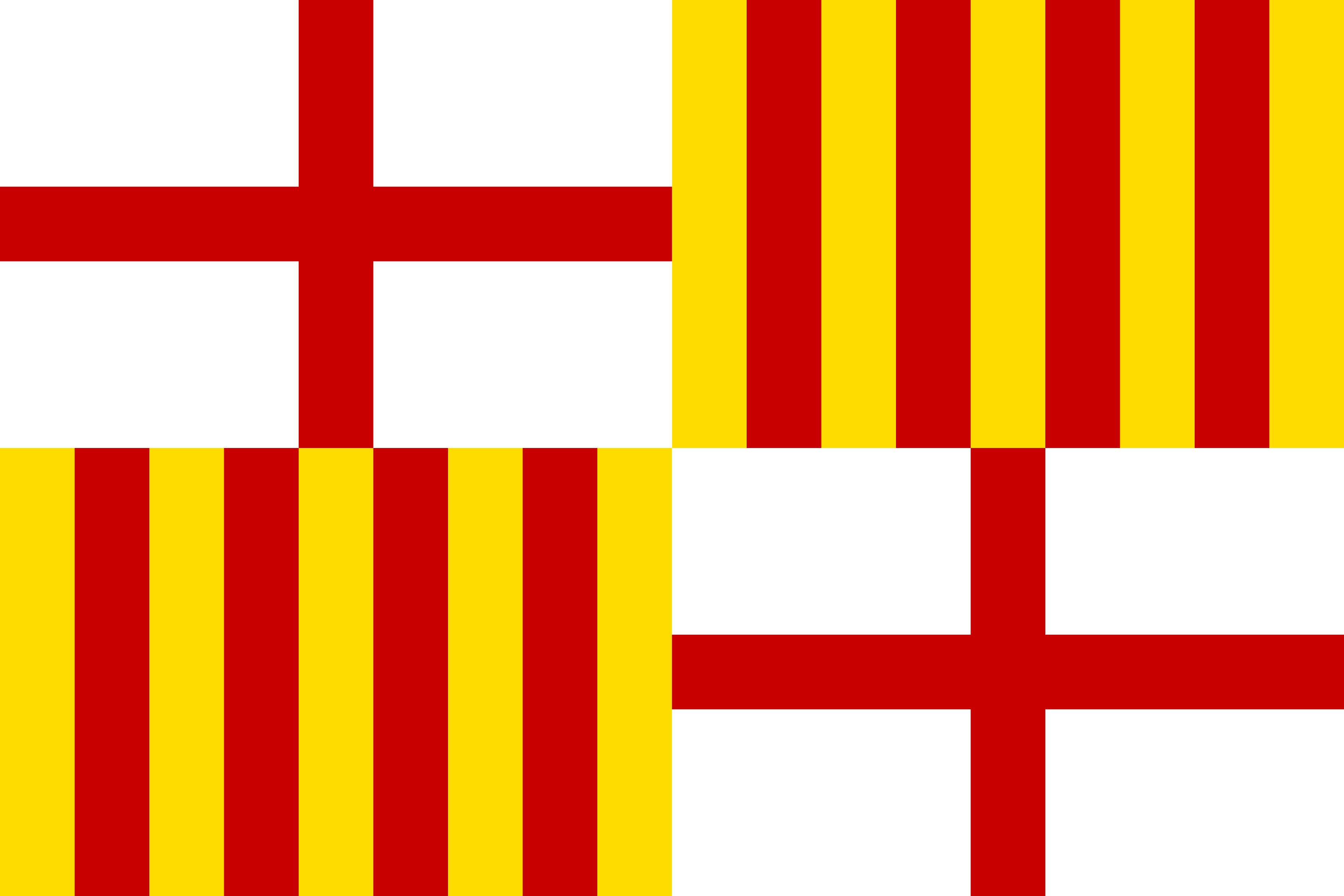 C'est le drapeau de la ville de Barcelone