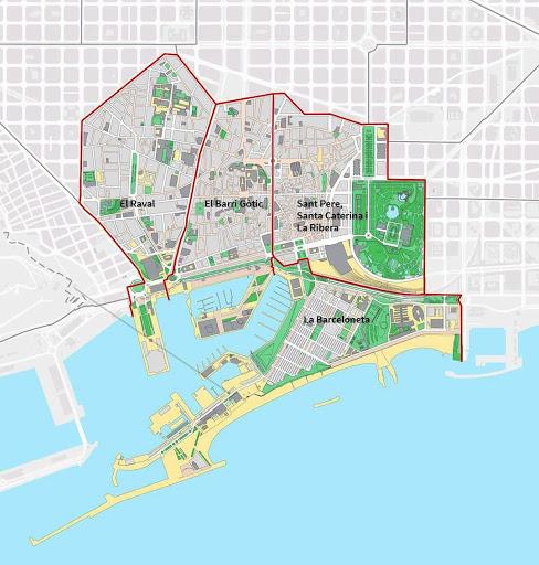 Barcelona Autrement - 6 choses à savoir sur Barcelone - Plan Vieille Ville Nouvelle Ville
