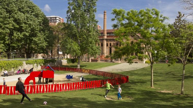 Barcelona Autrement - Les jardins de la Maternitat - Aire de jeux 2